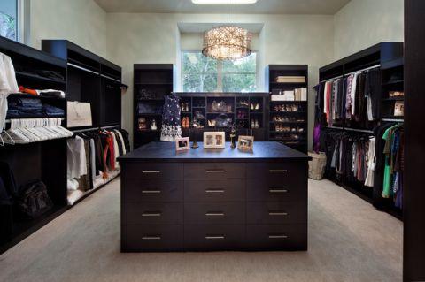 衣帽间橱柜美式风格装修设计图片