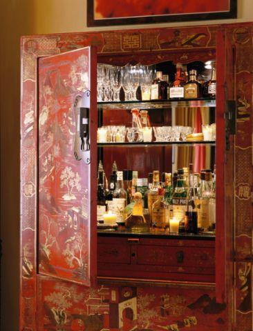 客厅橱柜混搭风格装饰设计图片