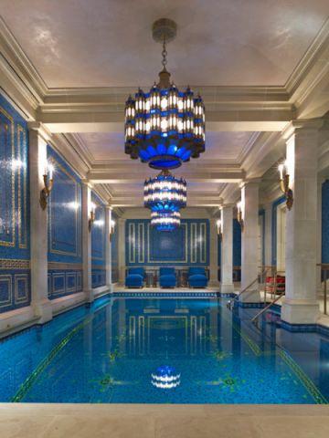 玄关泳池美式风格装饰效果图