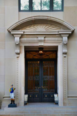 玄关推拉门美式风格装饰图片