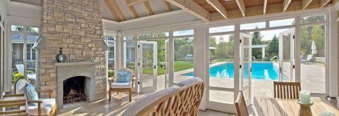 书房泳池美式风格装修设计图片