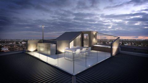 阳台细节现代风格效果图