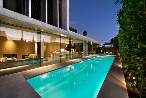 泳池现代风格装修图片