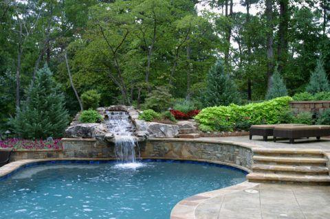 泳池现代风格装潢图片