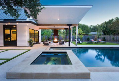 泳池美式风格装修设计图片