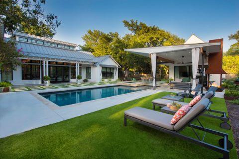 泳池美式风格装饰设计图片
