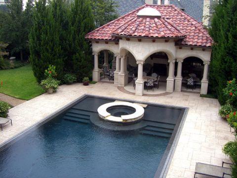 泳池混搭风格装修效果图