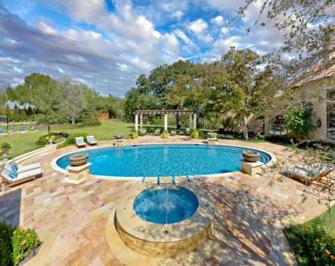 泳池混搭风格装修设计图片