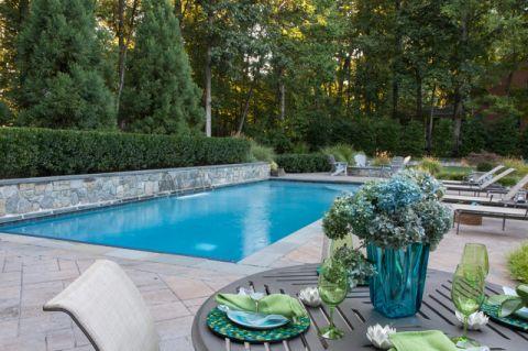泳池混搭风格装潢设计图片