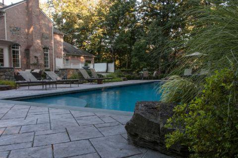 泳池混搭风格装潢图片