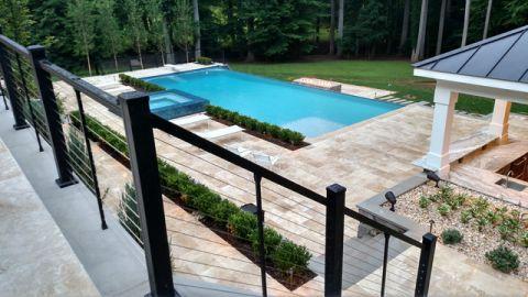 外景泳池现代风格效果图