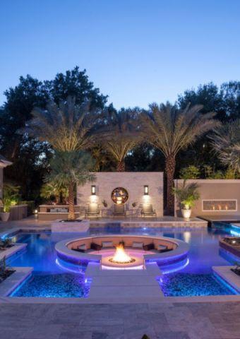 外景泳池现代风格装潢效果图
