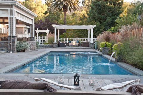 温暖美式风格泳池装修效果图_土拨鼠2017装修图片大全