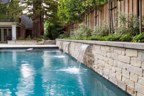 外景泳池美式风格装饰设计图片