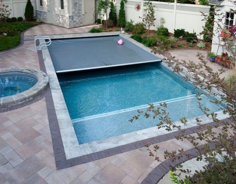 外景泳池美式风格装潢图片