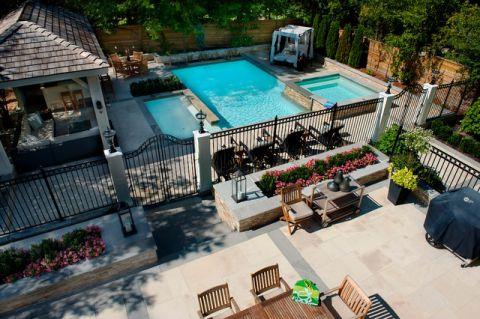 外景泳池美式风格效果图