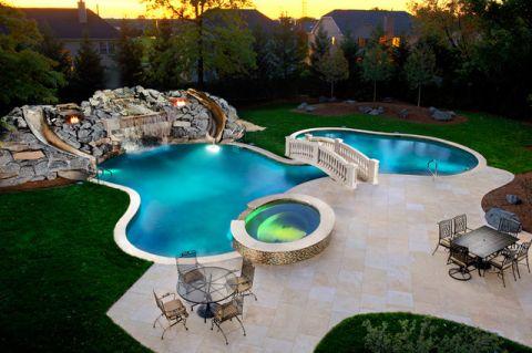 外景泳池美式风格装修图片