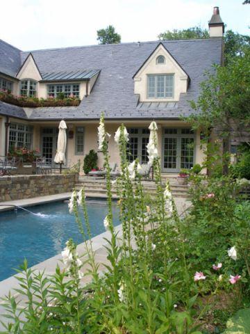 泳池美式风格装饰效果图