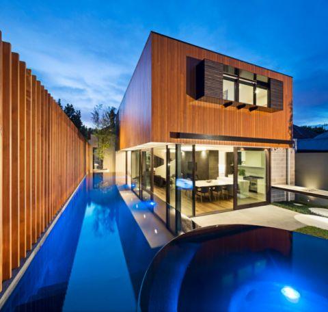 泳池现代风格装潢设计图片