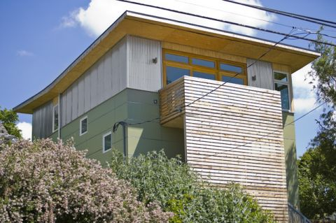 绿色外墙现代风格装饰效果图