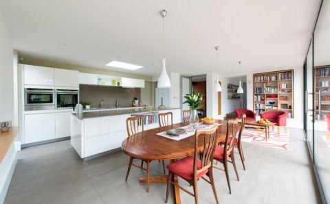 厨房白色细节简欧风格装修设计图片