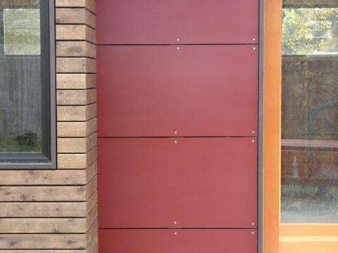 红色外墙现代风格装潢效果图