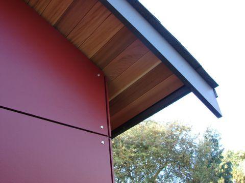 红色外墙现代风格装修图片
