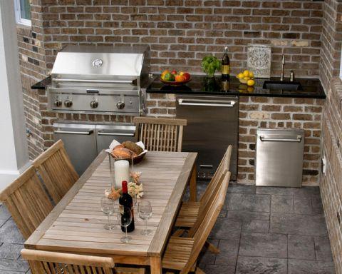 阳台咖啡色细节混搭风格装修图片