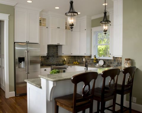 厨房白色细节混搭风格装潢图片