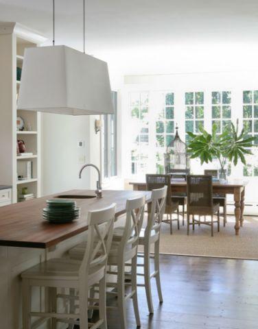 厨房白色隔断美式风格装潢效果图