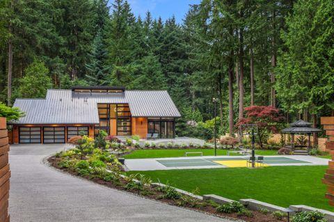 花园绿色外墙现代风格装潢效果图