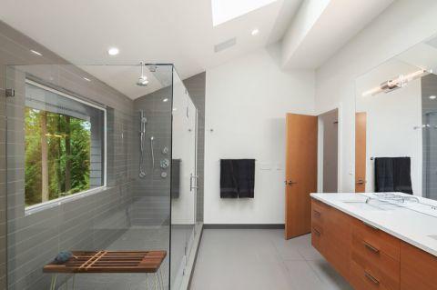 卫生间白色细节现代风格装潢图片
