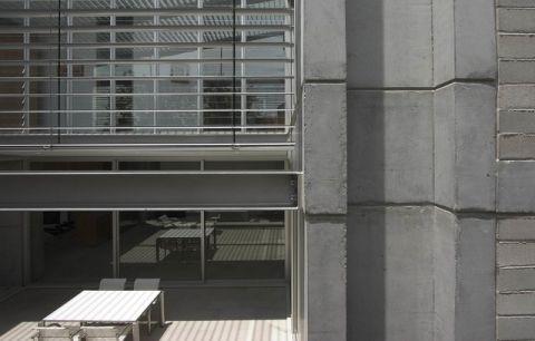 外景灰色外墙现代风格装潢效果图