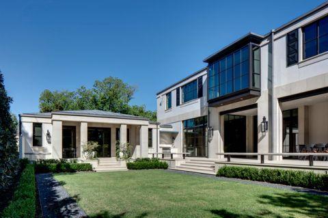 花园白色外墙现代风格效果图