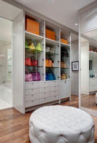 客厅白色橱柜现代风格装饰效果图