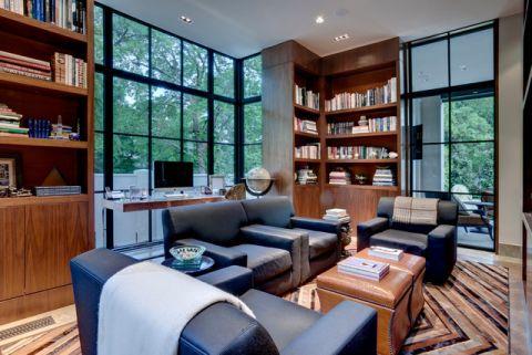 书房红色细节现代风格装饰图片