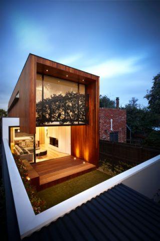 外景红色外墙现代风格装潢设计图片