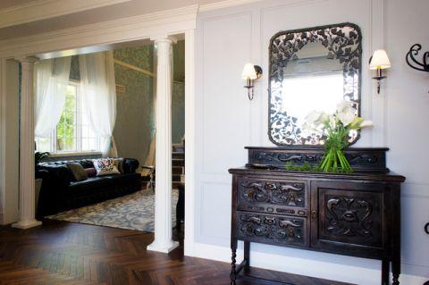 玄关黑色橱柜混搭风格装潢图片