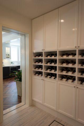 客厅白色细节混搭风格装潢设计图片