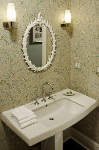 卫生间黄色细节混搭风格装修图片