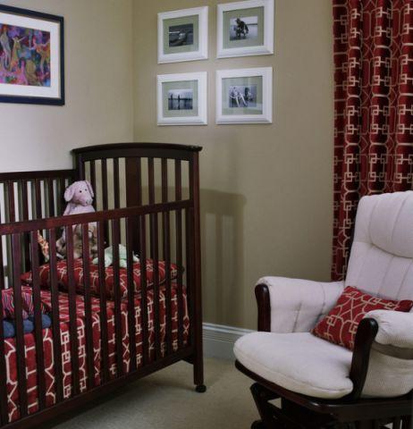 儿童房灰色背景墙混搭风格装饰图片