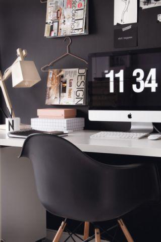 书房黑色背景墙混搭风格装潢设计图片