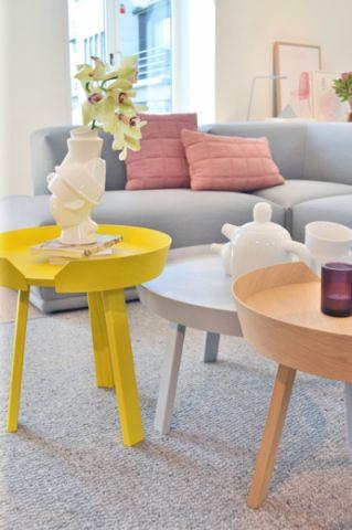 客厅彩色茶几混搭风格效果图
