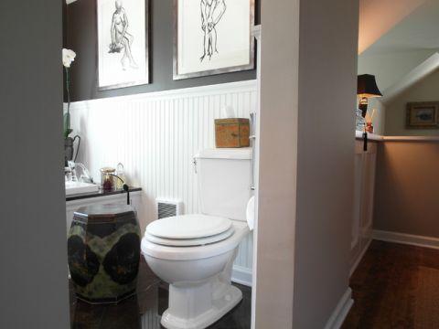 卫生间粉色门厅混搭风格装饰图片