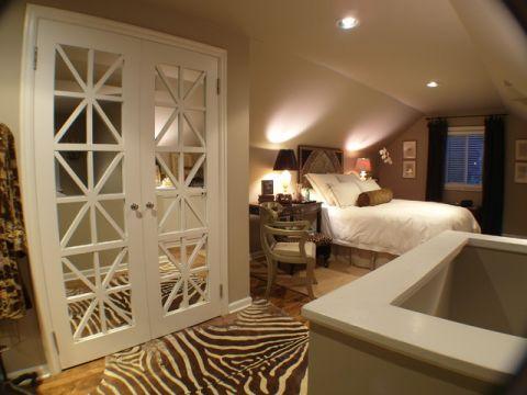 卧室白色门厅混搭风格装饰设计图片
