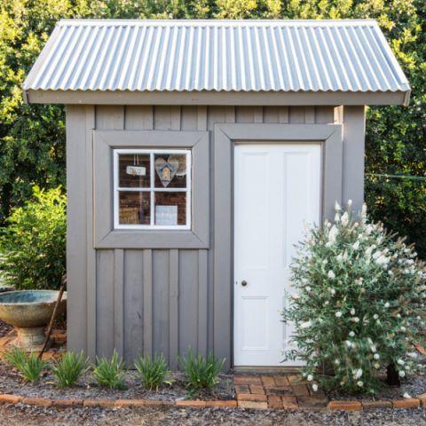 花园灰色外墙混搭风格装潢图片