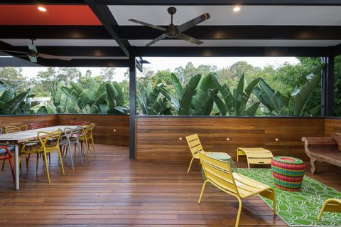 阳台白色餐桌混搭风格装潢设计图片