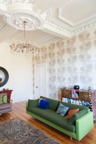 客厅吊顶混搭风格效果图