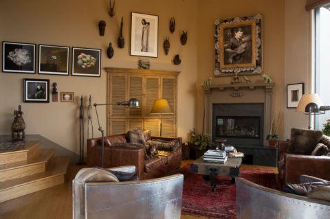 客厅背景墙混搭风格装修效果图