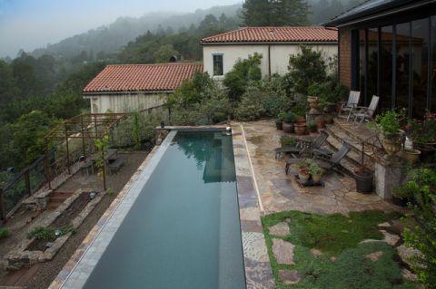外景泳池混搭风格装修设计图片